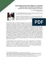 Epistemologías Del Derecho Indígena en Colombia