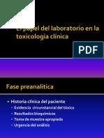 El Papel Del Laboratorio en La Toxicología Clínica