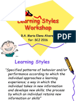 tip - learning styles workshop