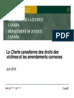 La Charte canadienne des droits des victimes