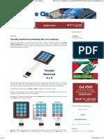 Arduino e Cia_ Teclado Matricial Membrana 4x3 Com Arduino