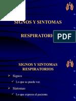 Signos y Sintomas Respiratorios