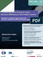 Lean Service Public Sector