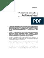 ¿Democracia, bienestar y justicia para todos?. El rostro femenino de Latinoamérica