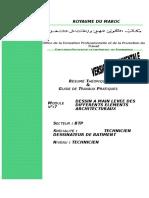 Dessin à Main Levée Des Différents Éléments Architecturau BTP-TDB