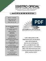 RO 615 Ley Orgánica de Prevención Integral Drogas Octubre_2015