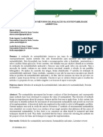 IDENTIFICAÇÃO DOS MÉTODOS DE AVALIAÇÃO DA SUSTENTABILIDADE AMBIENTAL
