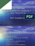Agua Corporal y Requerimientos Liq. y Electrolitos.