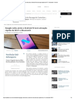 Google Volta Atrás e Android N Terá Ati... Rápida de Wi-Fi e Bluetooth - Android