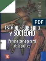 Bobbio Norberto Estado Poder y Gobierno Estado Gobierno y Sociedad 1-Libre
