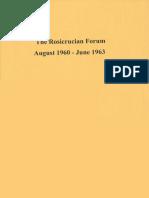 Rosicrucian Forum, August 1960 - June 1963