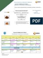 Calendario Cocina Americana Fase a (Marzo - Mayo 2016)