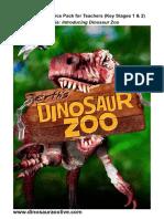 Dinosaur Zoo Teachers Pack 2