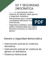 Genero y Seguridad Democratica