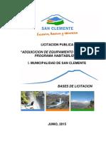 Bases Complementarias ADQUICICION DE EQUIPAMIENTO DE VIVIENDA PROGRAMA HABITABILIDAD
