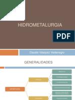 Clase 5 - Hidrometalurgia