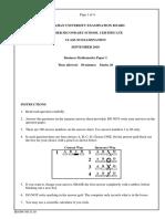 B. Maths Paper 1 2010