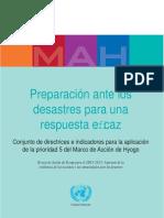 Preparación ante los desastres para una respuesta eficaz