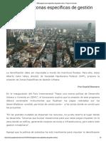 21 - 06 - 16 SHF propone zonas específicas de gestión urbana