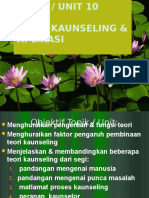 Cpe 3201 Unit 10 Teori Kaunseling & Aplikasi
