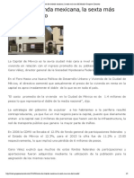 22 - 06 - 16 Renta de vivienda mexicana, la sexta más cara del Mundo