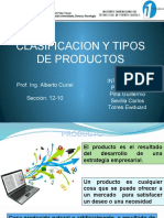 Clasificacion y Tipos de Producto