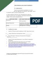 activity - understanding job advertisement