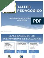 Taller Pedagógico Evaluacion educativa