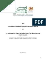 Avis Gouvernance Eau VF 16042014 1