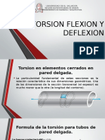 Torsion Flexion y Deflexion