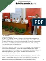 04-06-16 Firman Un Acuerdo Gobierno Estatal y La Profeco. -El Imparcial