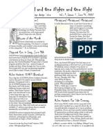 Issue #7, One Thousand and One Nights and One Night RPG Campaign Design 'zine