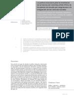 Acevedo Tarazona - La Política Educativa Enseñanza de La Historia