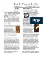 Issue #9, One Thousand and One Nights and One Night RPG Campaign Design 'zine