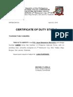 Duty Status