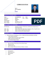 My Curriculum Vitae and Cover Latter (Ges Cambodian Co., Ltd. - 2016)