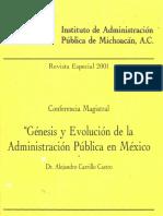 Génesis y Evolución de La Administración Pública en México