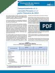 Comportamiento de la Economía Peruana en el Cuarto Trimestre de 2015