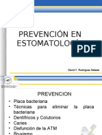 Clase_Prevención en estomatología