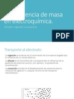 Transferencia de Masa en Electroquímica