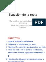0.00 Ecuación de La Recta
