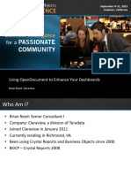 Using OpenDocument to Enhance Your Dashboards