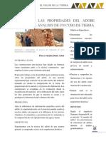 Estudio de las propiedades del adobe mediante el análisis de un cubo de tierra