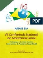Anais Da VII Conferência Nacional de Assistência Social (2009)