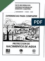Cartilla Proteccion de Nacimientos de Agua