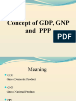 Concept of Gdp, Gnp, Ppp