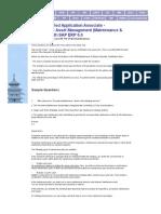 FREE SAP Plant Maintenance (PM) Certification Questions
