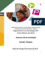 2do. Informe Chiapas API Compensatorios Enero-marzo 2012