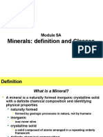 Module 5A - Minerals, definition & classes.ppt