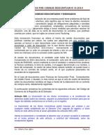 Cuentas Por Cobrar Descontadas 2014